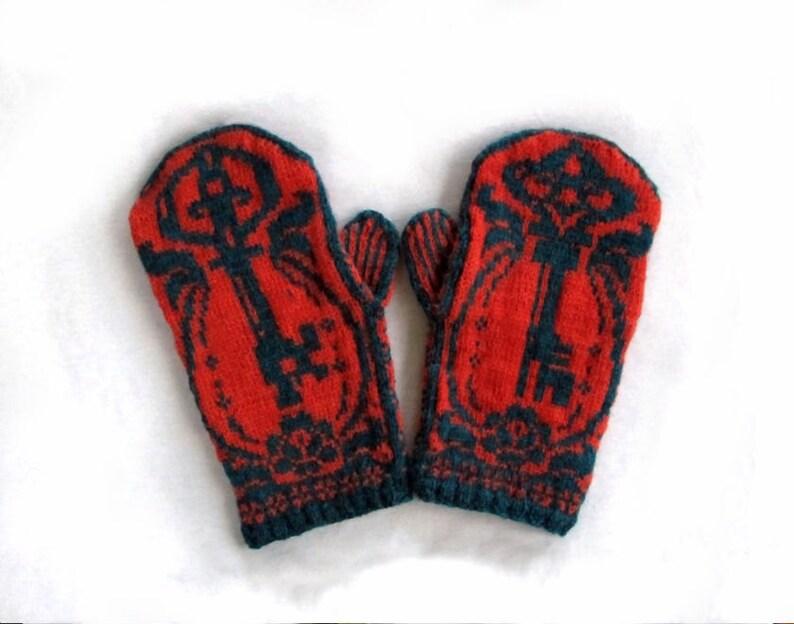 PDF Knitting Pattern Skeleton Key Mittens   Etsy