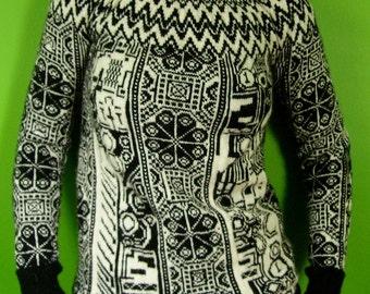 robot pixel mash-up  fair isle sweater
