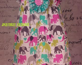 Elephant Halter dress size 2t, or 3t