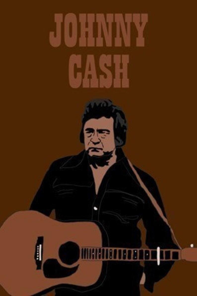 Johnny Cash Mini Art Print image 0