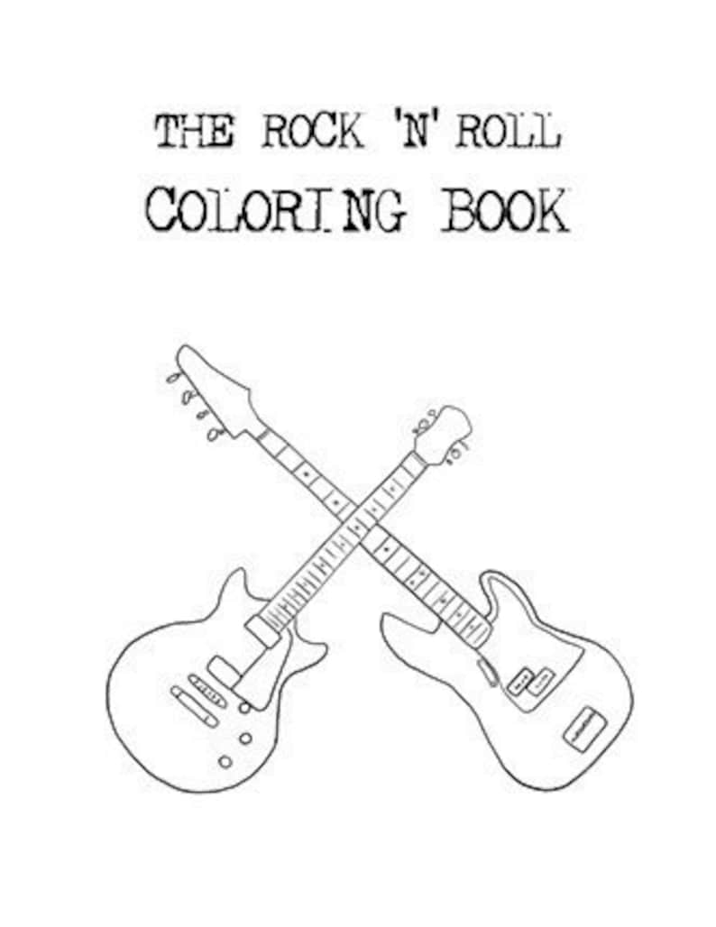 The Rock n Roll Coloring Book by Aaron Brassea image 0