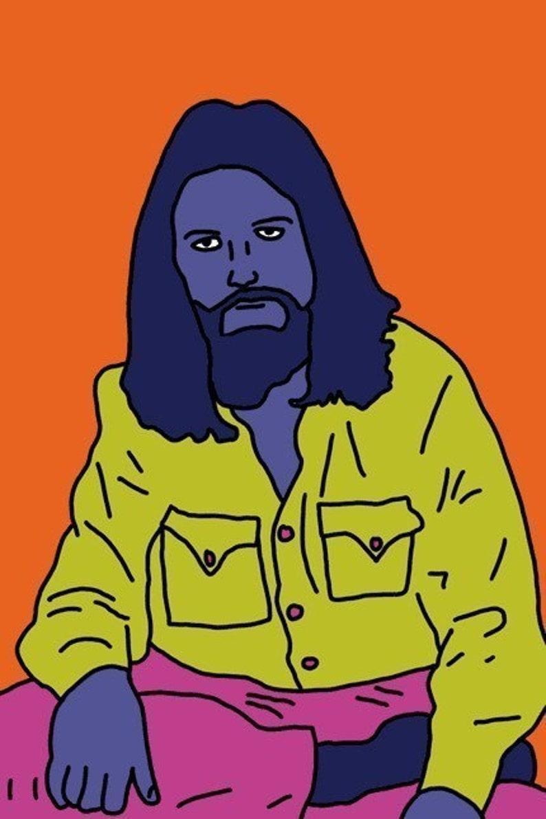 George Harrison Mini Art Print image 0