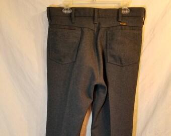 9c27ad2f Wrangler 70s Mens vintage slate blue pants, 36x32