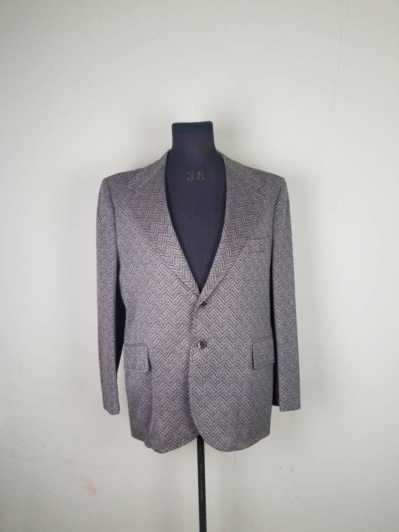 70s suit, brown 2 piece, mens, 46 48, polyester