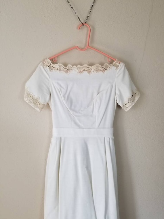 60s wedding gown ivory linen