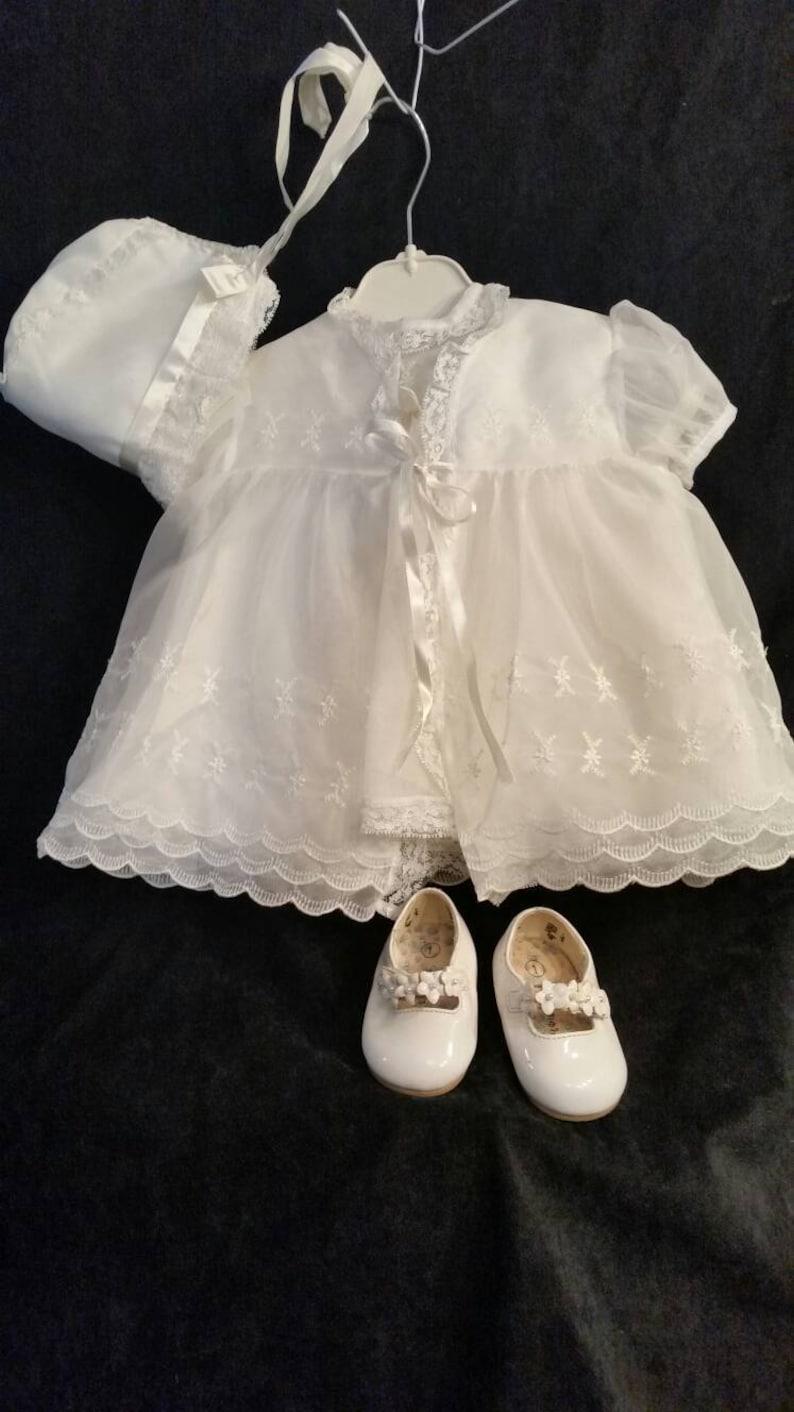 c8ea12e9ae808d Vintage 6 piece 50s baby christening dress jacket shoes