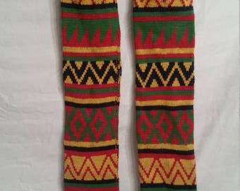 SALE!Vintage colorful legwarmers, 1980s