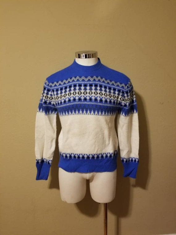 40s ski sweater 42, acrylic