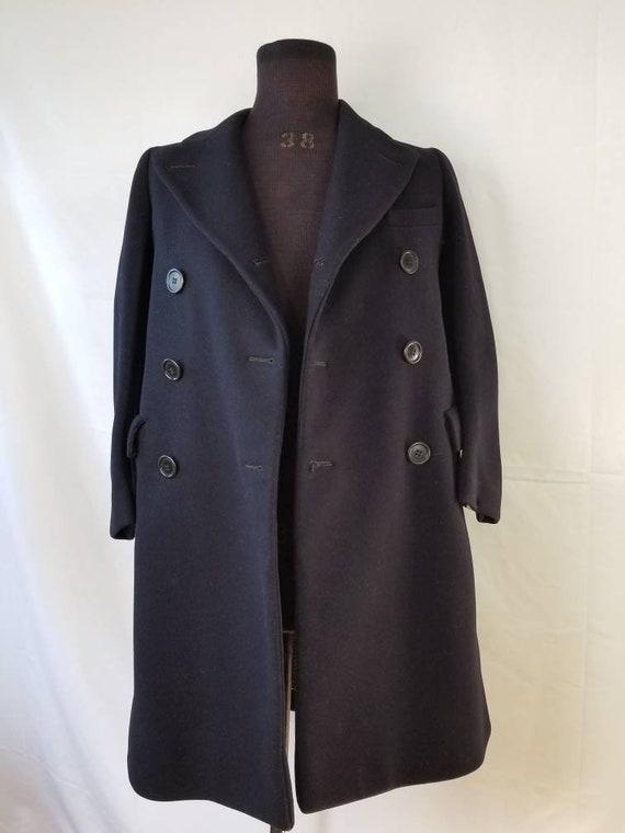 40s-50s boys vintage wool overcoat, SFA Saks Fifth