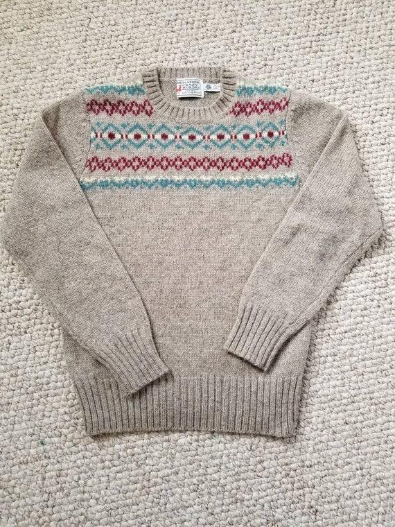 Vintage ladies sweater,  shetland wool, small, 36