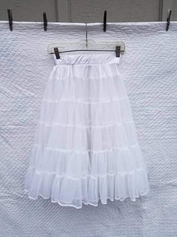 Crinoline, vintage petticoat square dancing white
