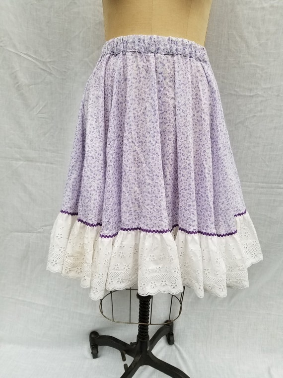 Squaredancing skirt, 50s vintage, purple calico me