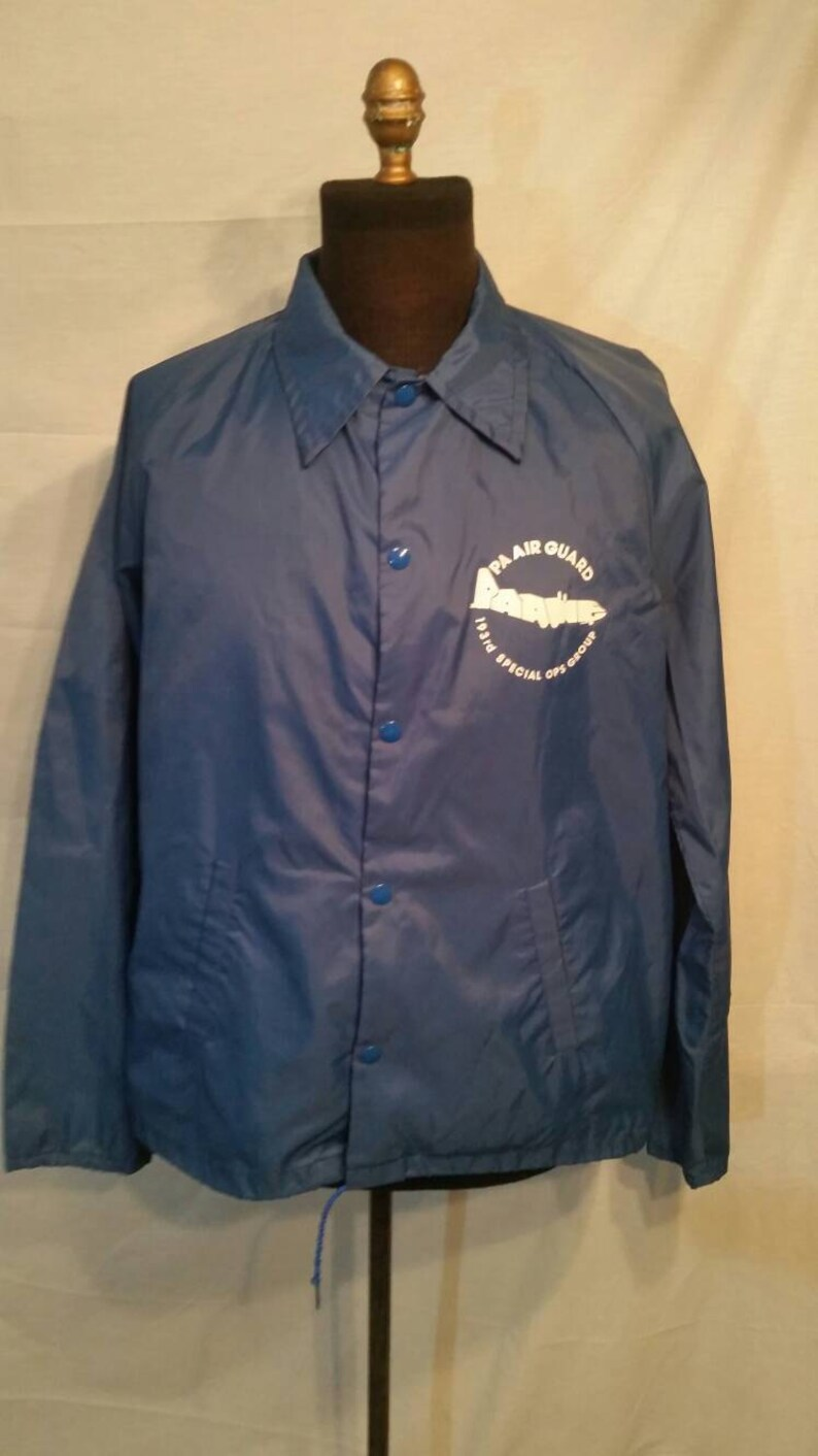 50 xl large Mens vintage coat 193rd Special Ops Group lightweight 80s PA Air Guard