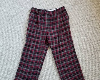 Vintage red plaid pants 36x28