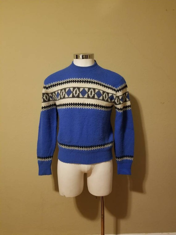 40s ski sweater, 42, acrylic
