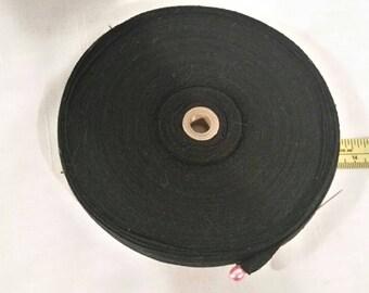 Roll of black twill