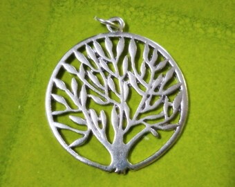 Large Silver Tree of Life Focal Pendant
