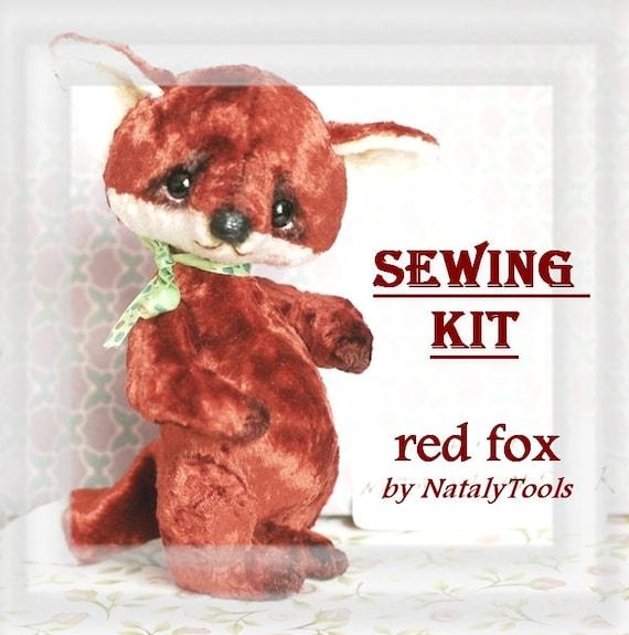 Nähen Kit Fox Muster Künstler Stoff-Set Vintage sowjetischen   Etsy