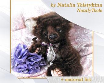 PDF Artists Teddy Bear PATTERN , teddy bear Leonti by NatalyTools, Instant download teddy pattern, soft toy pattern, (11 inch/ 27cm)