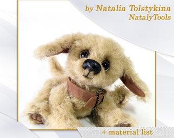 PDF spaniel dog pattern, Soft toy pattern, sewing puppy dog pattern by NatalyTools, Artist Teddy Dog pattern, Master class, teddy pattern