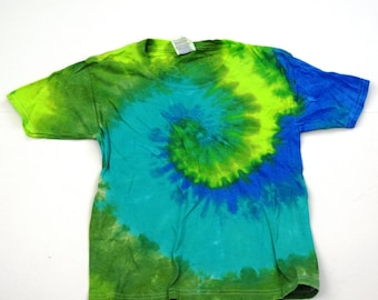 lap shoulder American Apparel Organic Sustainable Edition Greenline ~ Tie Dye Baby Short Sleeve T-shirt Size 6-12 months