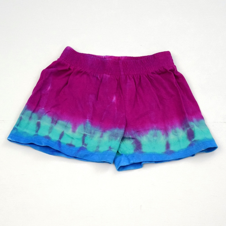 One of a Kind Dharma Trading Co. Size 6 months Mermaid Cove ~ Tie Dye Baby Toddler Cotton Shorts with Elastic Waist