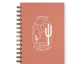 Sunshine & Good Vibes Weekly Planner Journal - Agenda | Desk Planner | Weekly Planner | Journal | Undated