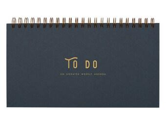 To Do Simple Weekly Planner - Agenda | Desk Planner | Weekly Planner | Undated