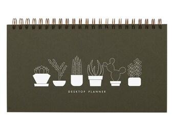 Succulent Weekly Planner - Agenda | Desk Planner | Weekly Planner | Undated