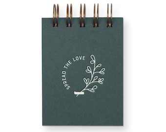 Spread The Love Mini Jotter - Notebook | Journal | Pocket Notebook | Spiral Bound | Blank Pages