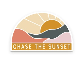 Chase The Sunset Sticker