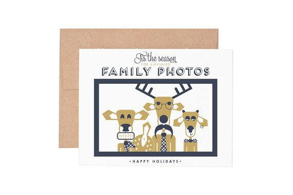 Awkward family photos holiday letterpress greeting card etsy image 0 m4hsunfo