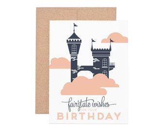 Fairytale Birthday Letterpress Greeting Card - Happy Birthday | Birthday Card | Kid Birthday | Greeting Cards | Letterpress Cards