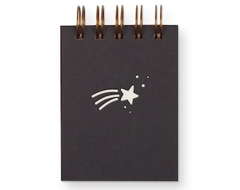 Shooting Star Mini Jotter - Notebook | Journal | Pocket Notebook | Spiral Bound | Blank Pages