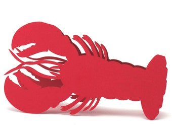 Lobster Place Cards, wedding Escort Card, Weddings place card, Lobster Claw Seating Card, Nautical theme card, Coastal, Aquarium place card
