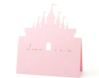 Castle Place Cards - Escort Cards, Disney Princess Wedding, Disney, Fantasy Bridal shower, fantasy, Disney Fairy Tale Wedding,