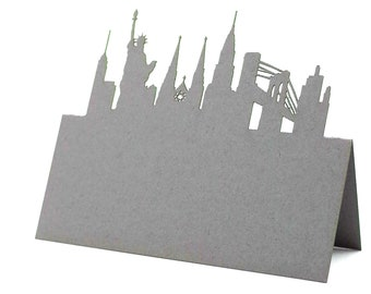 NYC Place Cards, Statue of Liberty Place Cards, NYC Wedding cards, Skyline place card , Bridal Shower, setting cards, Brooklyn Bridge cards