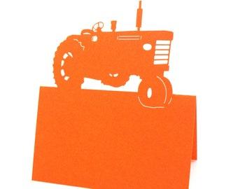 Tractor place cards, wedding Escort Cards, Wedding Place Cards, Table Number cards, Wedding Seating Card, Farm wedding, Rustic Wedding, Barn