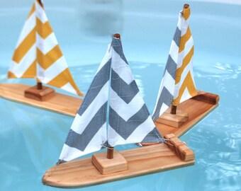Chevron Stripe Sailboat