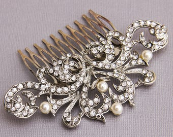 Bridal Hair comb, Wedding Hair comb, Bridal Hair Jewelry, Crystal Hair comb, Rhinestone Haircomb, Bridal Head Piece, Wedding Hairpiece