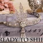 Flapper Headband Great Gatsby Headband Daisy Buchanan Costume  Roaring 1920's