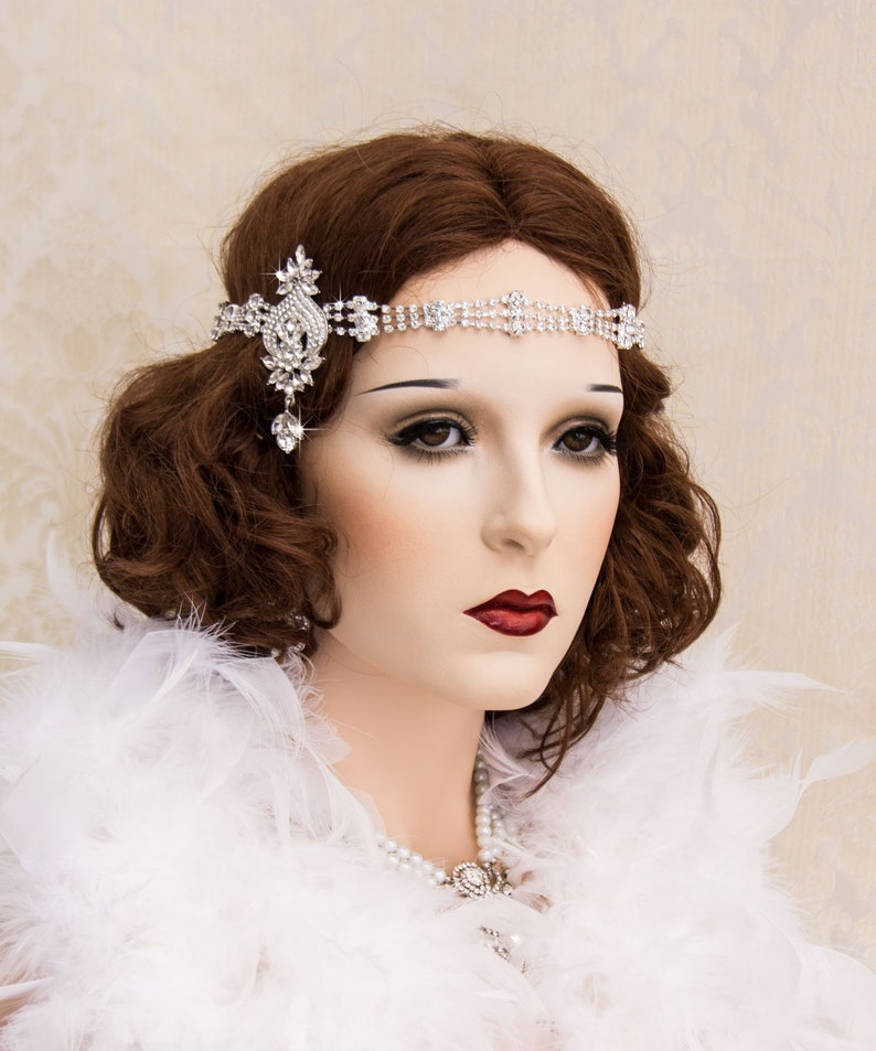 Art Deco Headband Great Gatsby Headband Gatsby Head piece image 0