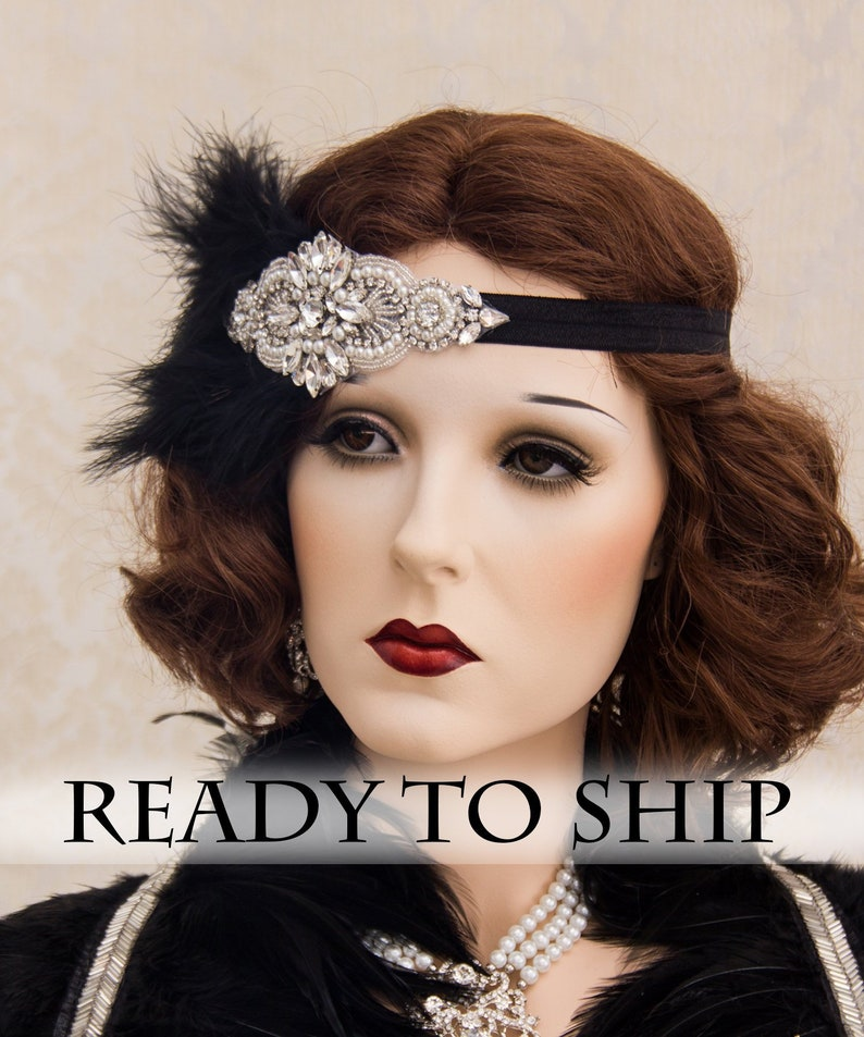 1920s Roaring Flapper Headbands Great Gatsby Headpiece image 0