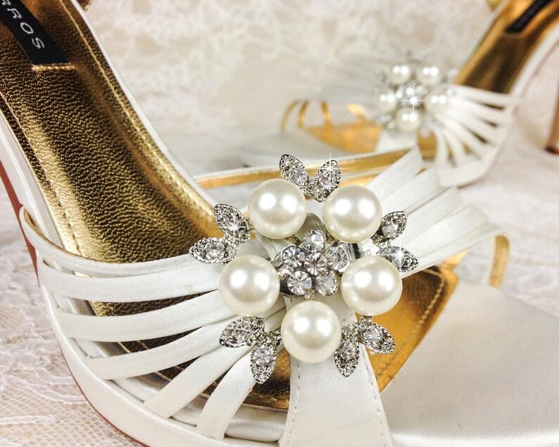 Bridal Shoe Clip Crystal Shoe Clip Rhinestone Shoe Clip image 0
