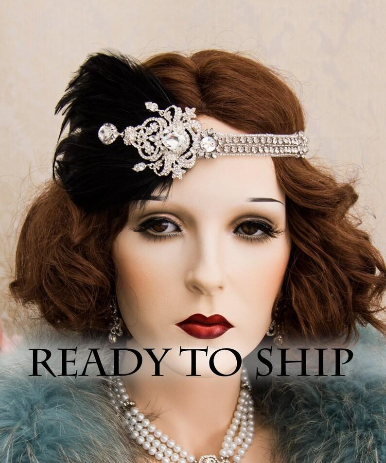 1920s Roaring Flapper Headbands Great Gatsby Headpiece image 0