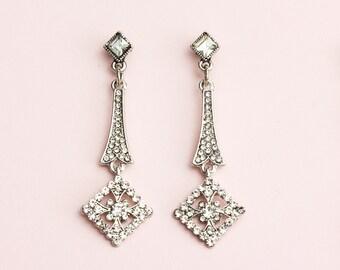 Great Gatsby Earrings, Art Deco Earrings, 1920s Jewelry, Roaring 20s Earrings