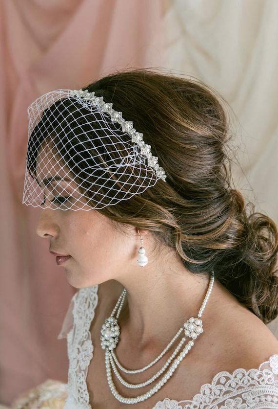 Mini Birdcage Veil Birdcage Veil Headband Bridal Veil  23f23aa7486