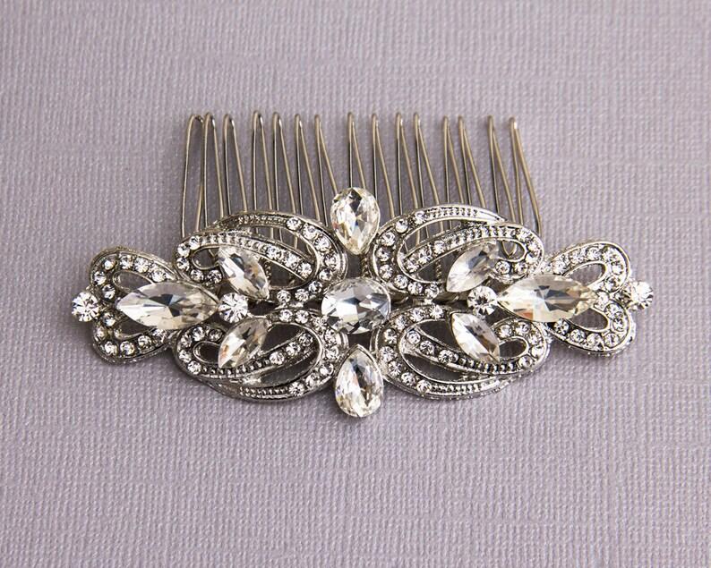 Bridal Hair Comb Silver Wedding Hair Comb Bridal Hair Piece Wedding Hair Accessories Crystal Hair Comb Bridal Headpiece