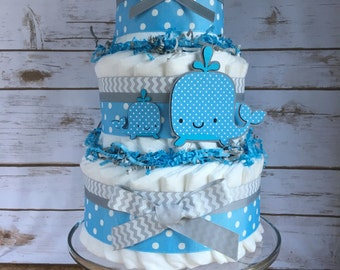 Whale Diaper Cake Etsy