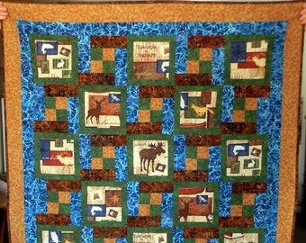 PRINTED PATTERN, 5 YARD Everyday Quilt Pattern & Bonus Pillow, Traditional Patchwork, Beginner, Easy Lap Quilt